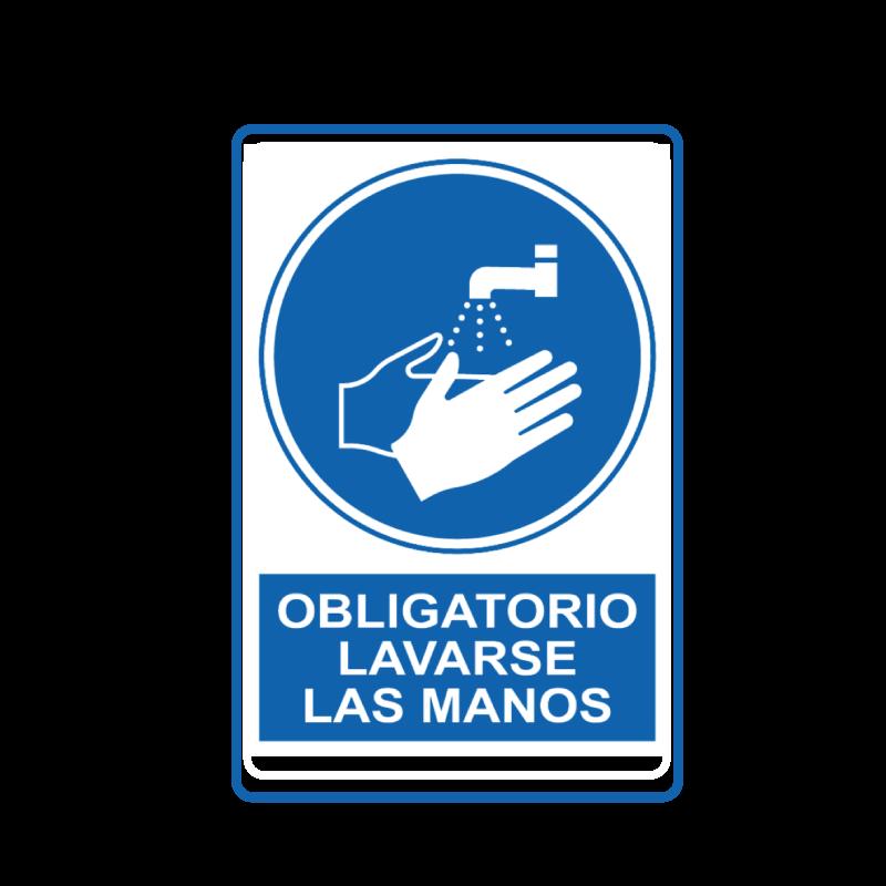 Señal que indica obligacion de lavarse las manos - covid 19 - coronavirus
