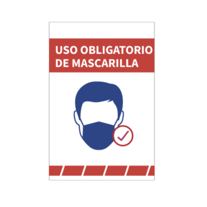 cartel uso obligatorio mascarilla